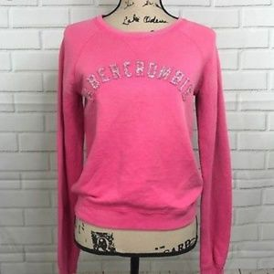 Pink Abercrombie & Fitch pullover sweatshirt